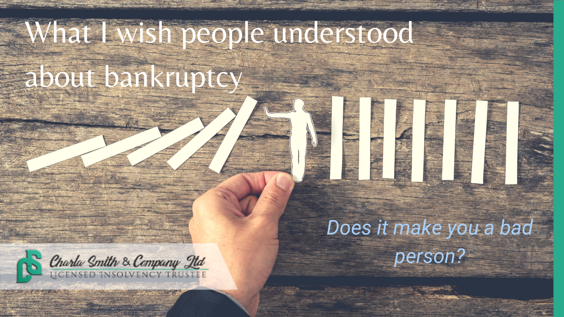 What I Wish People Understood About Bankruptcy | Does it make you a bad person?