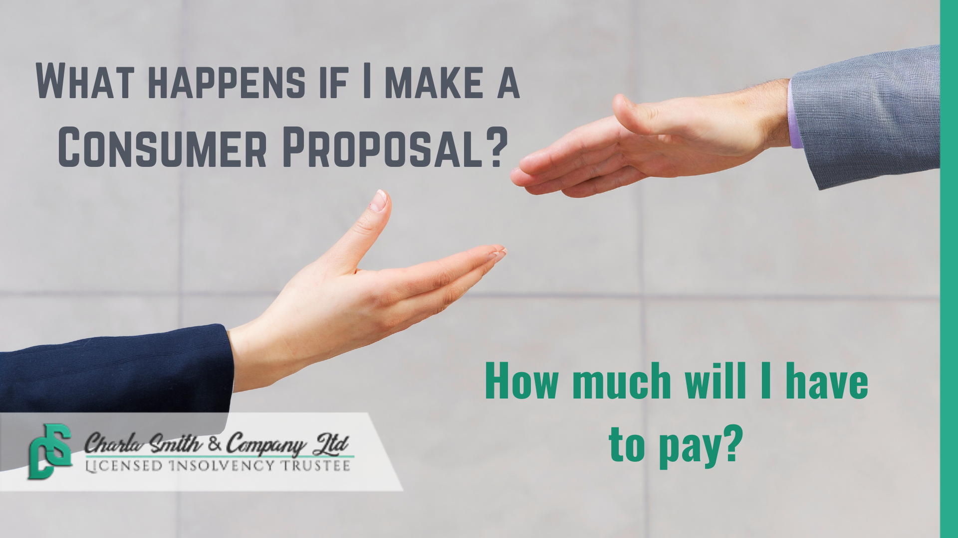 How much does a Consumer Proposal cost?