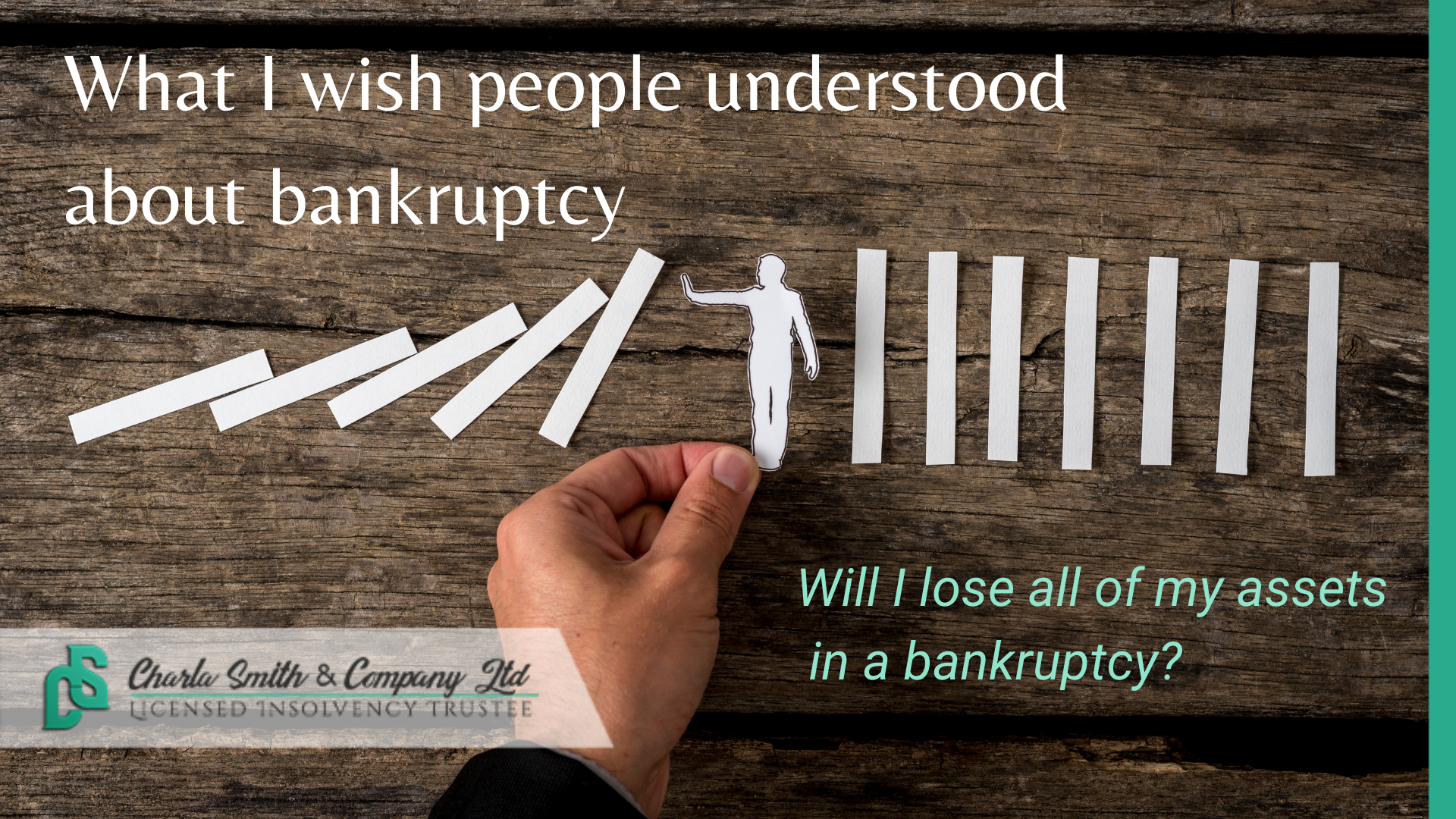 What I Wish People Understood About Bankruptcy   Do you lose all of your assets in a bankruptcy?